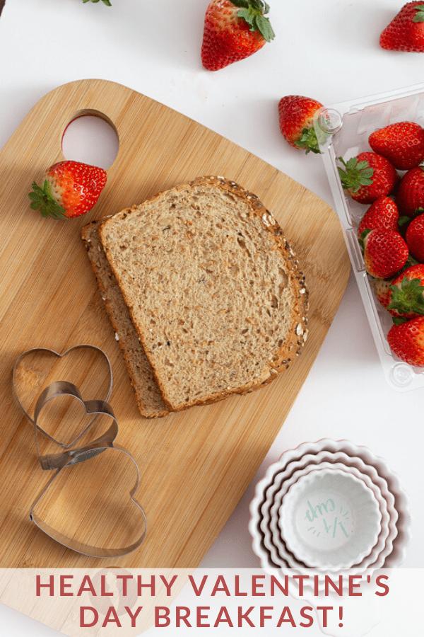 Valentine's Day Breakfast ideas. Heart-shaped toast.