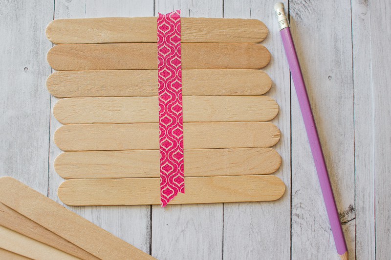 Popsicle sticks taped together.