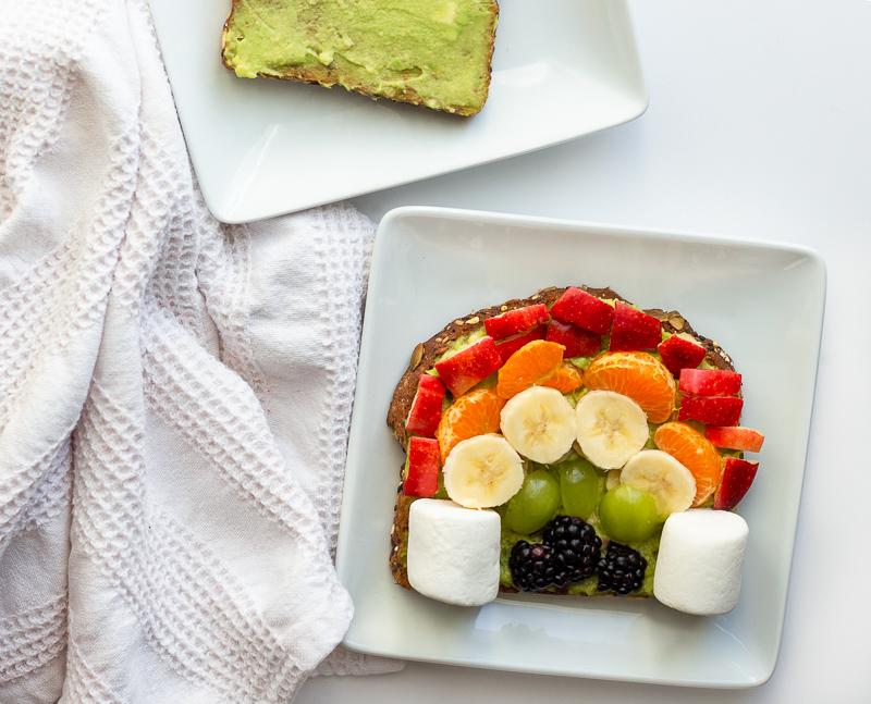 Rainbow Fruit Avocado Toast