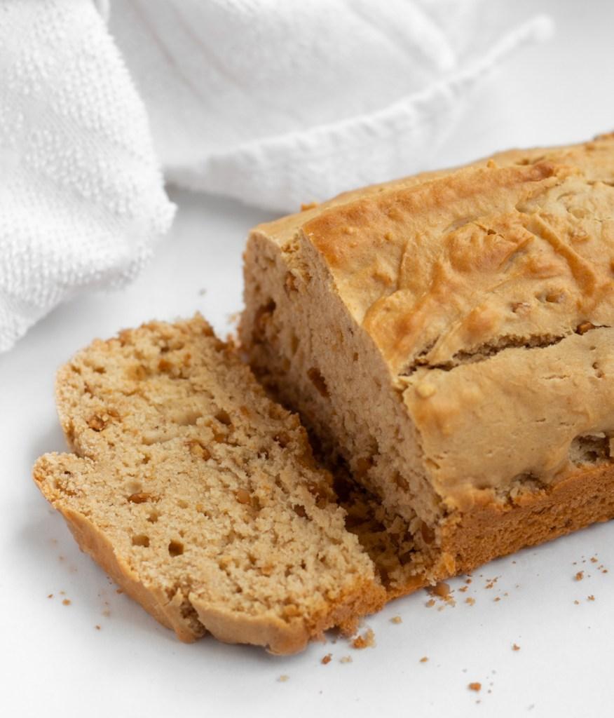 Sliced peanut butter bread
