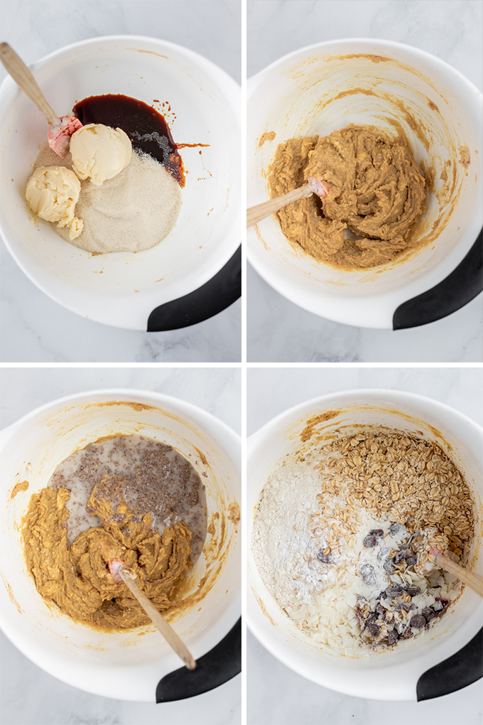 Making the cookie dough.