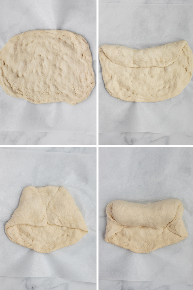 Shaping the dough.