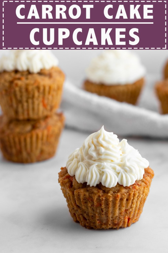 Carrot Cake Cupcakes Pinterest Pin.
