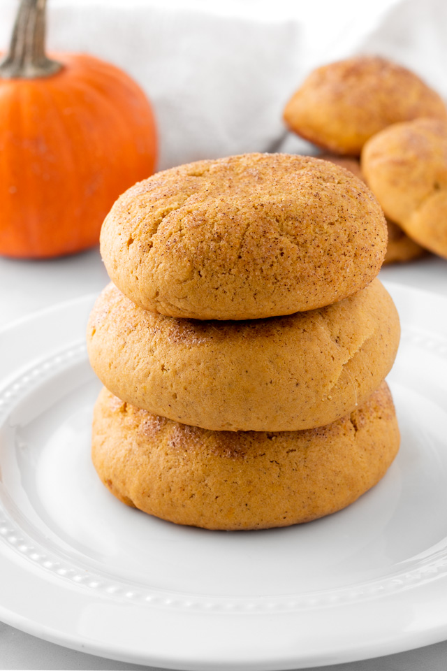 Stacked pumpkin snickerdoodles.