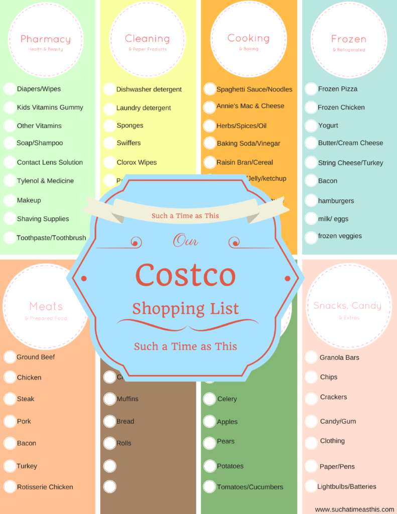 Costco Shopping List