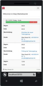 StepsBusinessSolution2015.5_Mitarbeiterportal_NeueStartseite