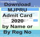 MJPRU Improvement Admit Card 2020 Search Name Wise & Exam Scheme