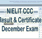 NIELIT CCC Result December 2020 by Name student.nielit.gov.in