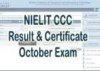 nielit ccc result certificate october 2021 exam by name or by roll number or by application number