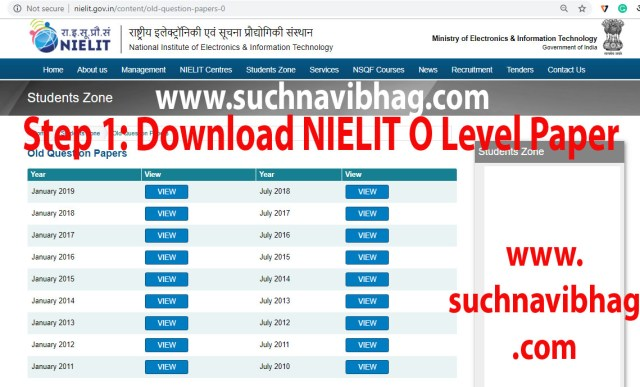 Step 1- Download Nielit O level Paper with Answers of Previous years