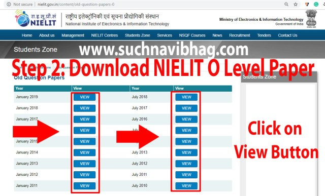 Step 2- Download Nielit O level Paper with Answers of Previous years