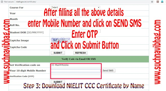 Fill mobile number and get otp and click on submit button.