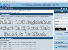 NIELIT CCC Online Registration 2021 Admission Form, Last Date, Exam Date