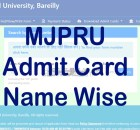 MJPRU Admit Card 2021 Search by Name, Exam Scheme mjpru.ac.in
