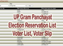 UP Gram Panchayat Election Reservation List 2021 District Wise, Voter List, Voter Slip