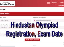 Hindustan Olympiad Registration 2021 and exam date, result