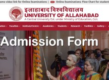allahabad university admission form 2021-22 ug and pg courses allduniv.ac.in