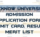 Lucknow University Admission 2021-22 Application Form, Last Date, Merit List