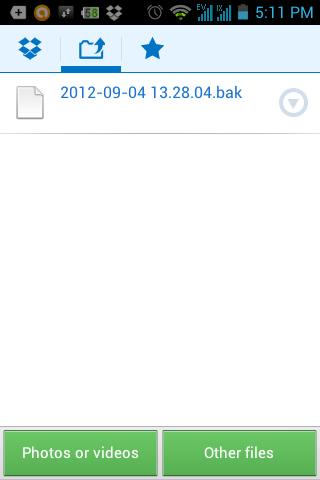 Upload Dropbox