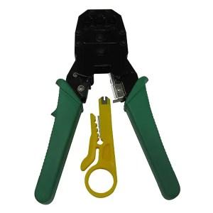 Ponchadora De Red De Tres Servicios Con Pela Cable Manual Snell SN34
