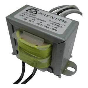 Transformador De Voltaje 1000mA 9VA 115Vac 6 0 6, 9 0 9Vac TR508M Magom