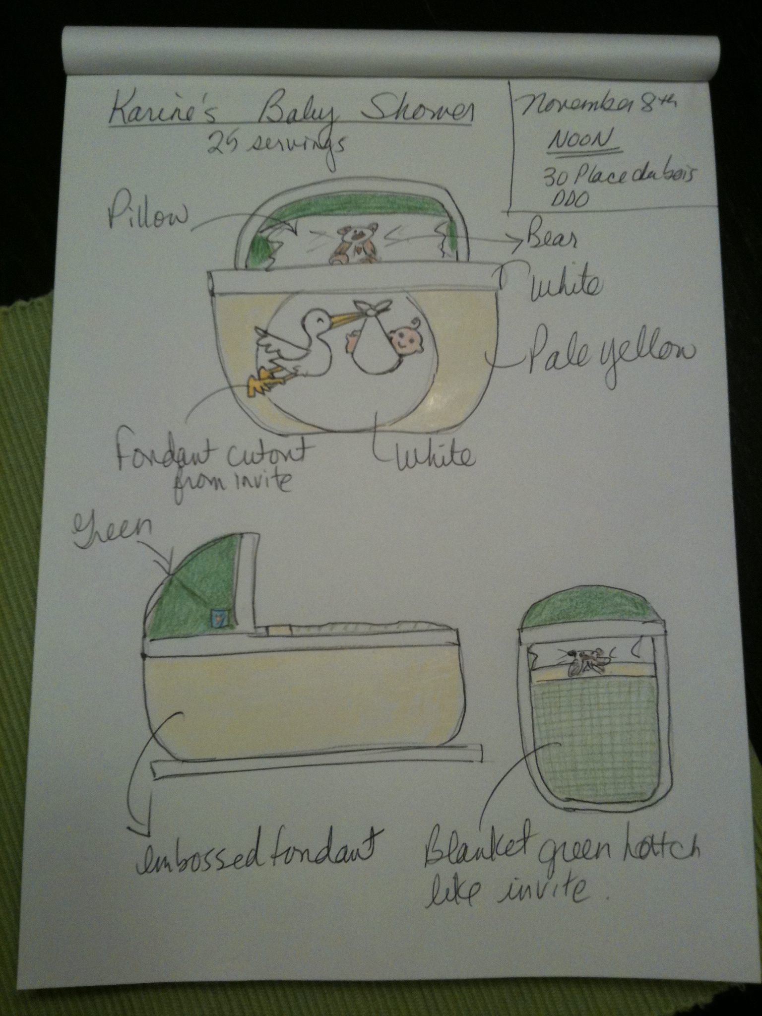 The sketch with the green hatch