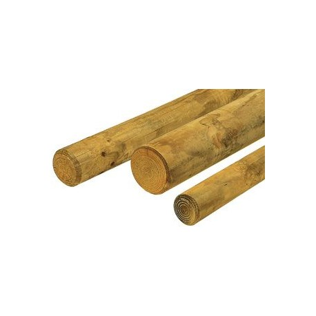 rondin bois rond fraise pin impregne traite autoclave classe 4 sud bois terrasse bois direct scierie