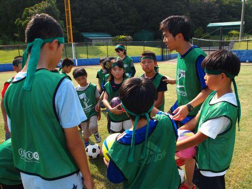 USFスポーツキャンプin徳島 まぜのおか 小学生 ボランティア サッカー 阿部一樹