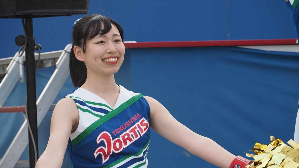 徳島ヴォルティスvsアビスパ福岡 2019/6/22 ヴォルタくんステージ BLUE SPIRIT とわちゃん