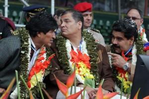 Correa, Maduro y Evo