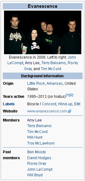 Ciri Ciri Lagu Rock : Evanescence, Andhika's
