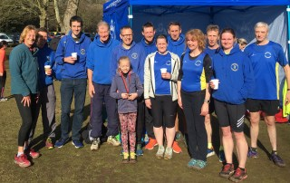 Winter Cross Country: Bury - Cross Country left to right, Cathy, Andy, Kieran, Jonathan, Wayne, Amelia, Darren, Sarah, David, Ruth, Todd, Julie, Cliff