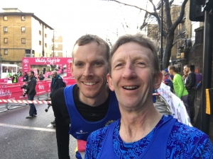 Jamie Fittock (left) and Todd Lewis (right) at the London Big Half
