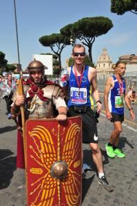 Jamie Fittock at the 2018 Rome Marathon