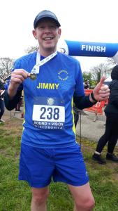 Jimmy Secker at the 2018 Frinton Half Marathon