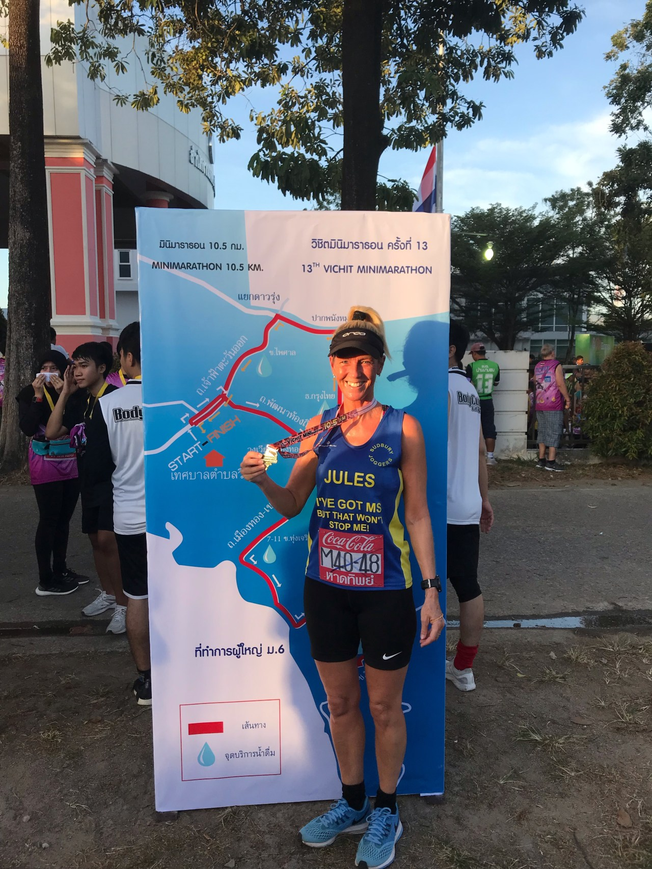 Jules Cooper at the Vichit 10.5k in Phuket, Thailand