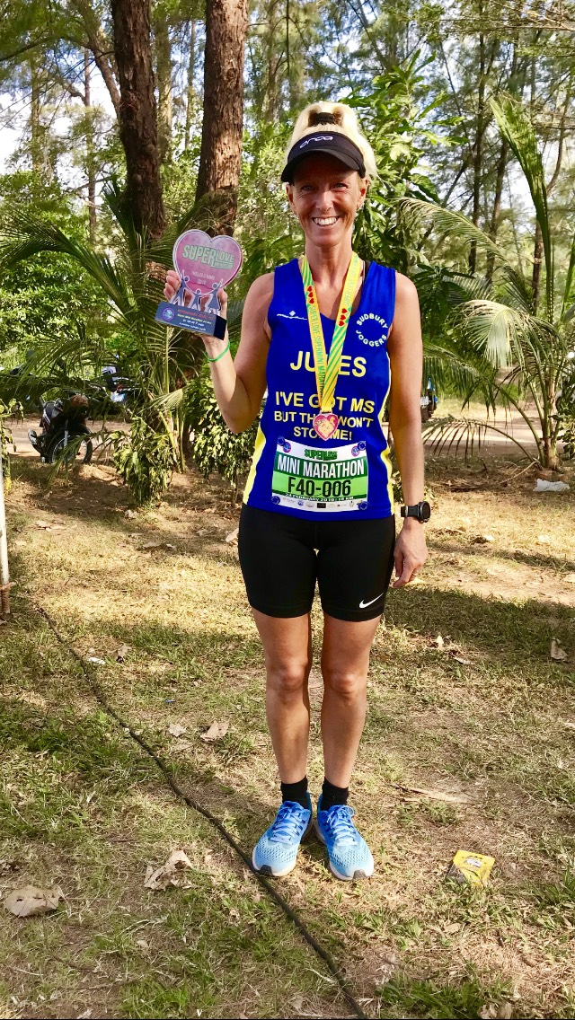 Jules Cooper after the Thalha and Yamu Super Love 15K Mini Marathon in Phuket, Thailand.