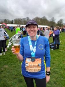 Claire Rooke after the Saucony Cambridge Half Marathon
