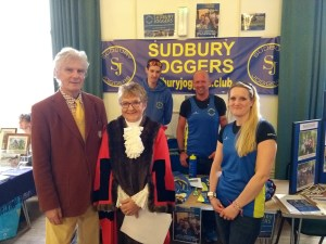 (from left) Lord Andrew Phillips, Mayor Sue Ayres, Ben Cuthbert, Jem Smith and Sarah Pennock at the beginning of Sudbury on Show