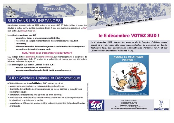Tract électoral SUD CT Saint-Herblain