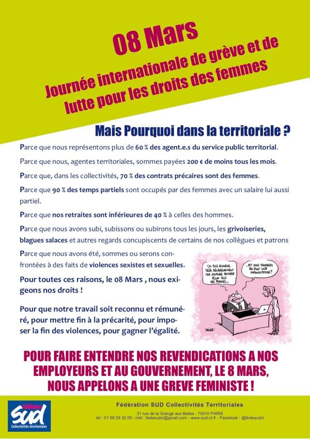 ournée de lutte et de grève pour faire avancer les droits des femmes !