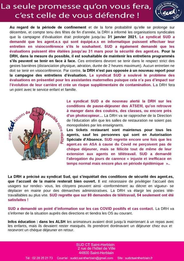 Crise sanitaire Mairie de Saint-Herblain