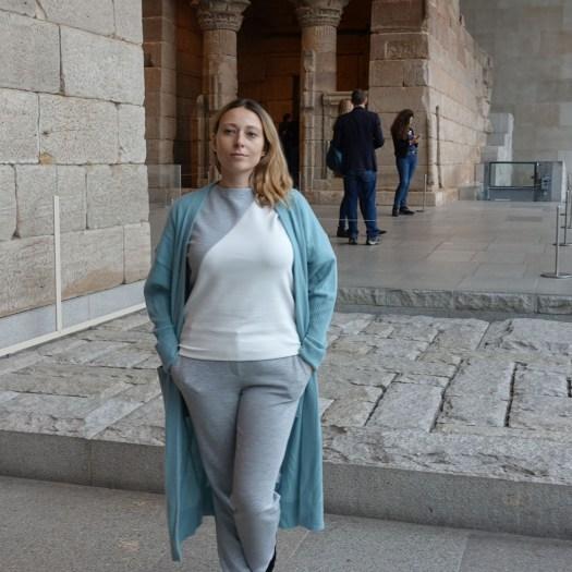 In Met Museum, in front of Temple of Dendur