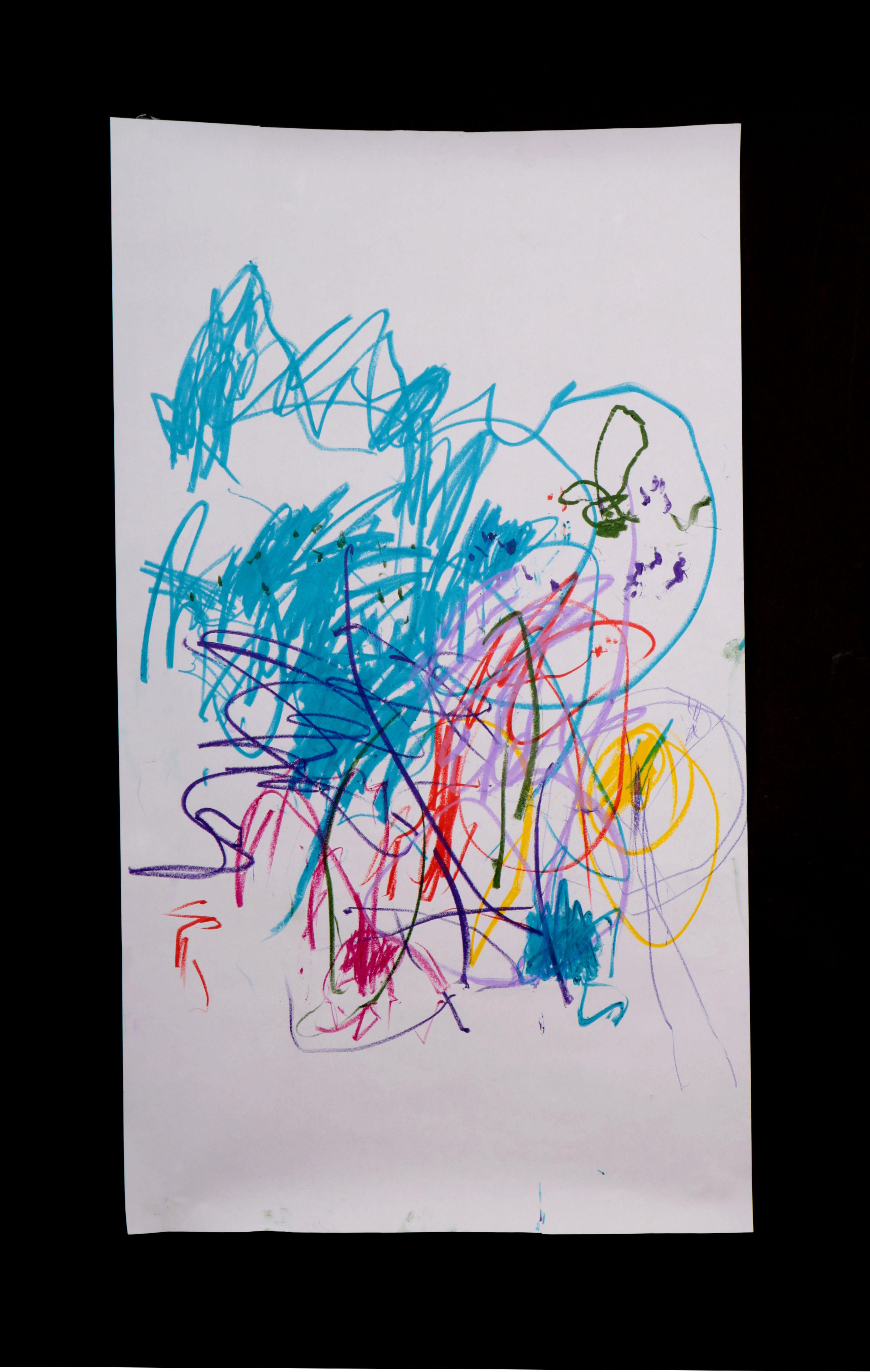 Art by Anastasia. Untitled #71. Gel sticks on paper.