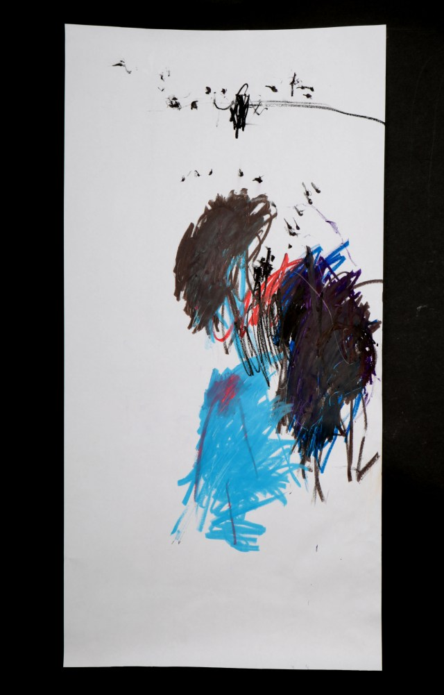 Art by Anastasia. Untitled #74. Gel sticks on paper.