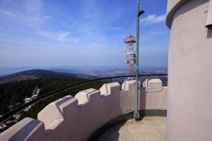Na wieży widokowej Wielkiej Sowy