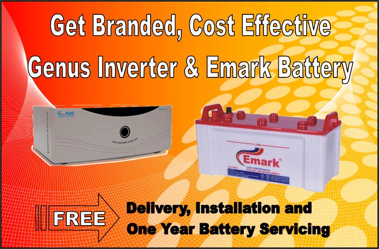 genus inverter emark battery