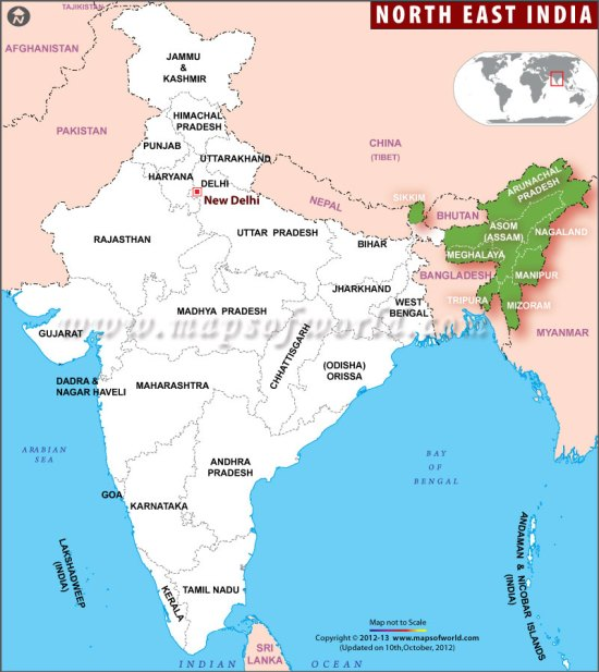 north-east-india-map