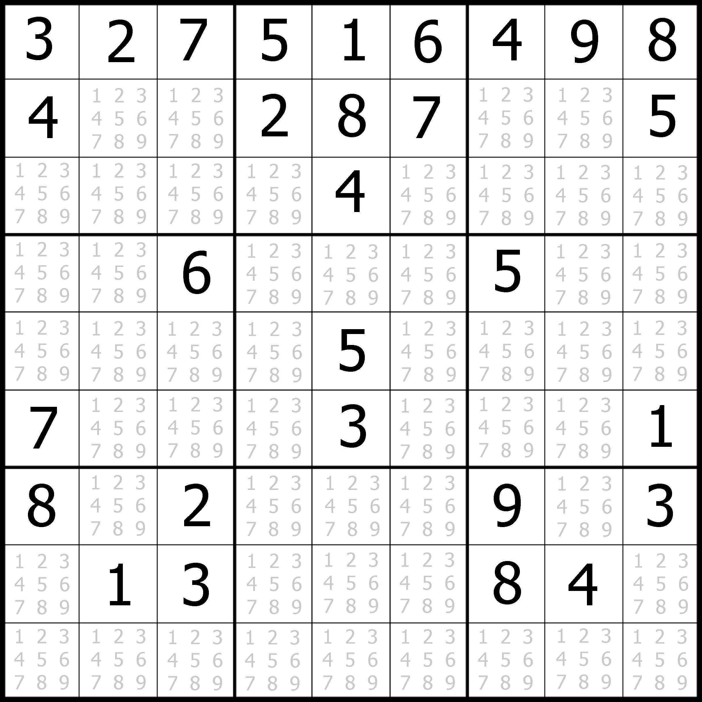 Printable Easy Sudoku