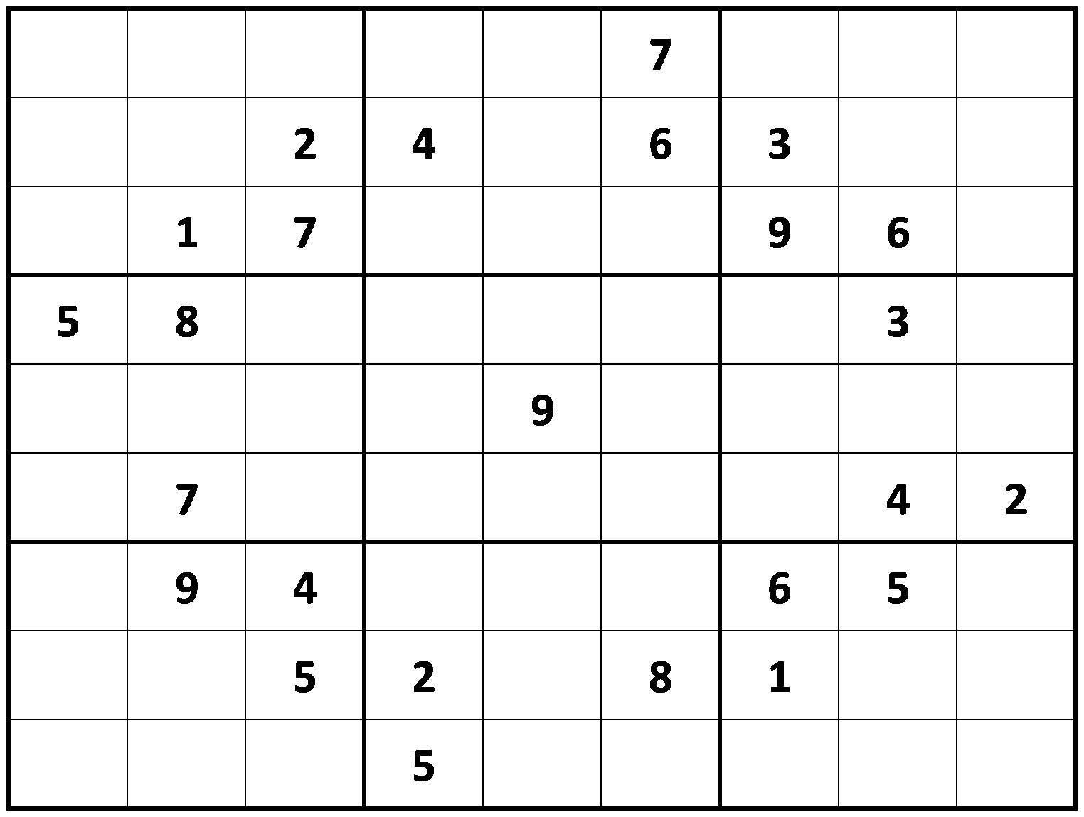 Blank Sudoku Worksheet